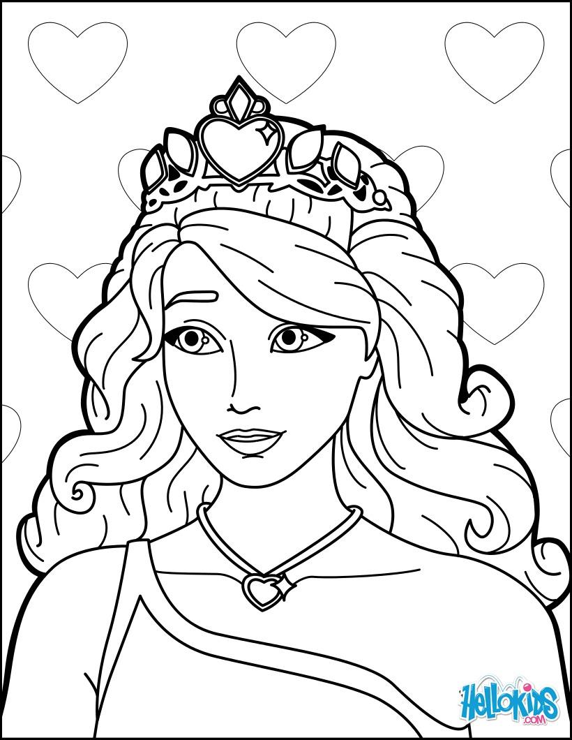 Coloriage Barbie : barbie la princesse