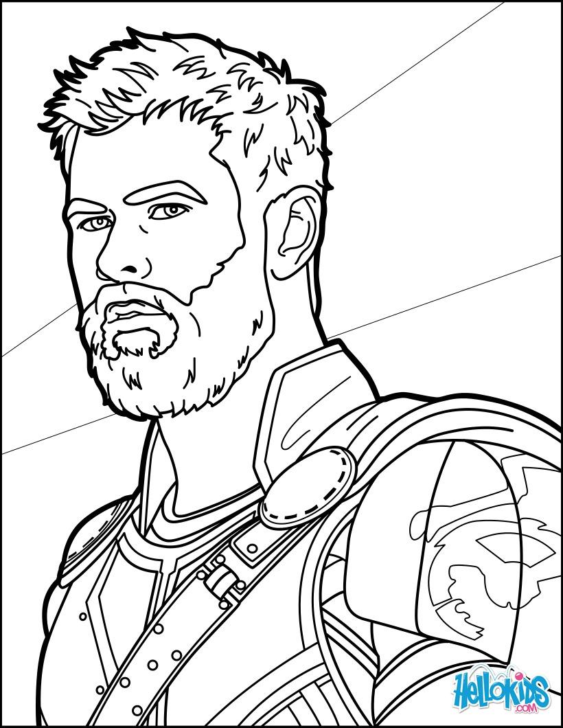 Coloriage : Thor Ragnarok