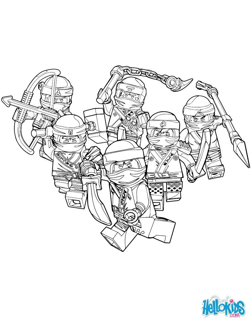 Coloriages lego ninjago les gentils - Ninjago a imprimer ...