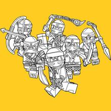 Coloriage : Lego Ninjago - Les gentils