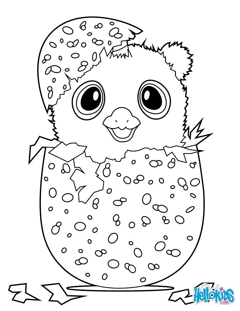 Coloriage : Hatchimals Owlicorn
