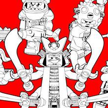 Coloriage : Lego Ninjago - Les méchants