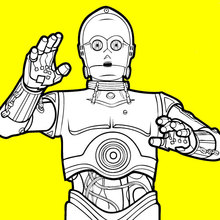 Coloriage Star Wars : Z-6PO (Cispéo)