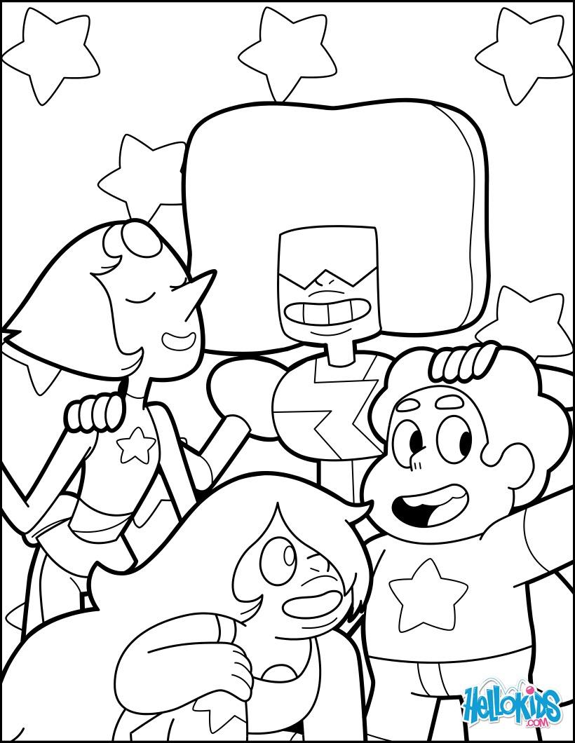 Coloriage : Steven et les Gemmes de Cristal