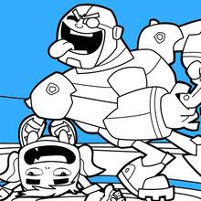 Teen Titans Beast Boy et Cyborg