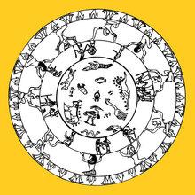 Mandala : Mandala signes égyptiens