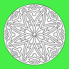 Coloriage de Mandala N°57