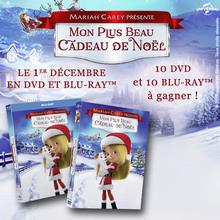 Gagne des DVD de Mon plus beau cadeau de Noël de Mariah Carey !