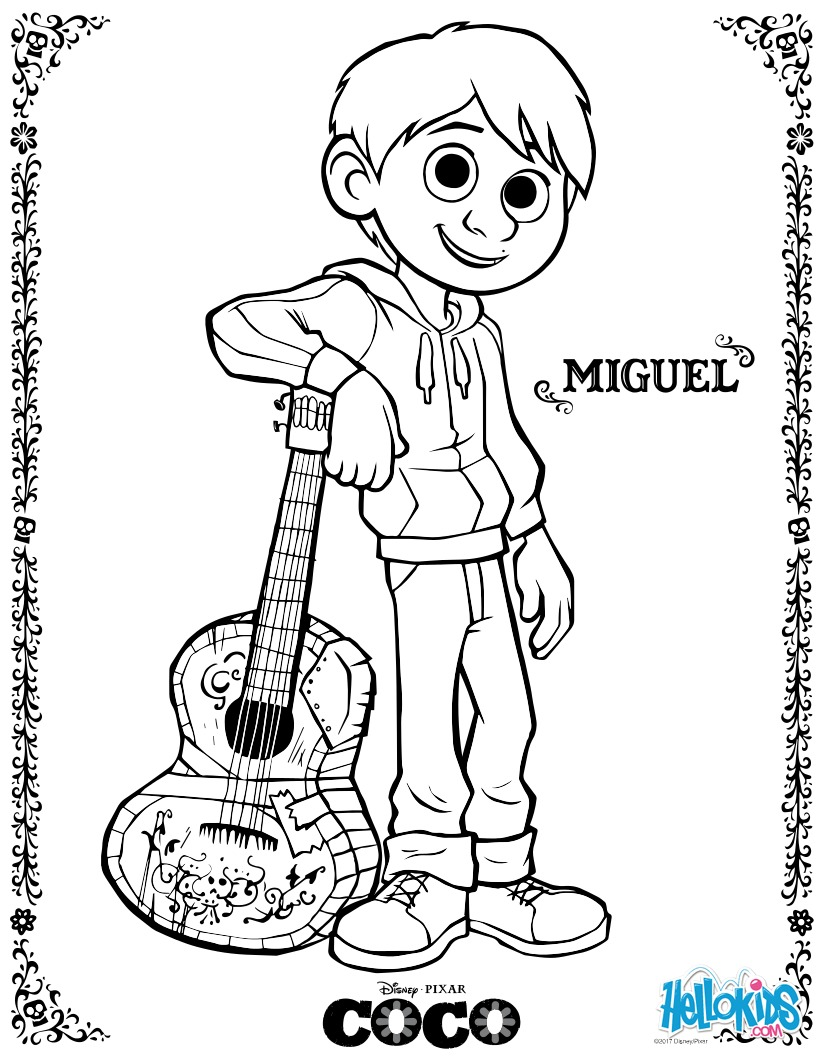 Coloriage Disney : Miguel