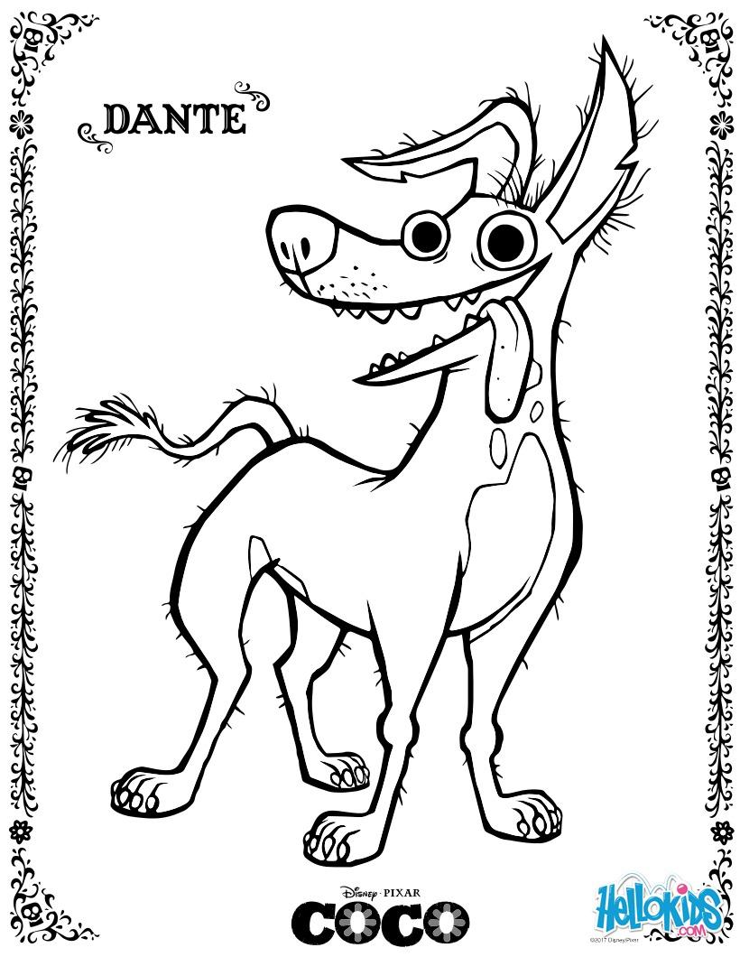 Coloriage Disney : Dante