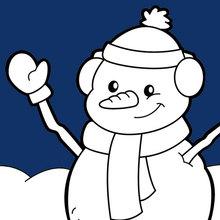 Bonhomme de neige souriant
