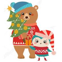 Coloriage des animaux de Noël