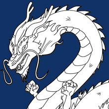 Coloriage : Dragon chinois