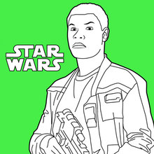 Coloriage Star Wars : Finn - Épisode 7