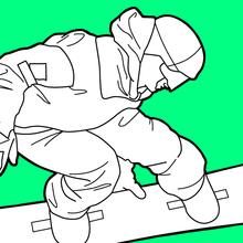 Coloriage : Snowboarder aux Jeux Olympiques