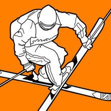 Coloriage : Ski acrobatique aux Jeux Olympiques