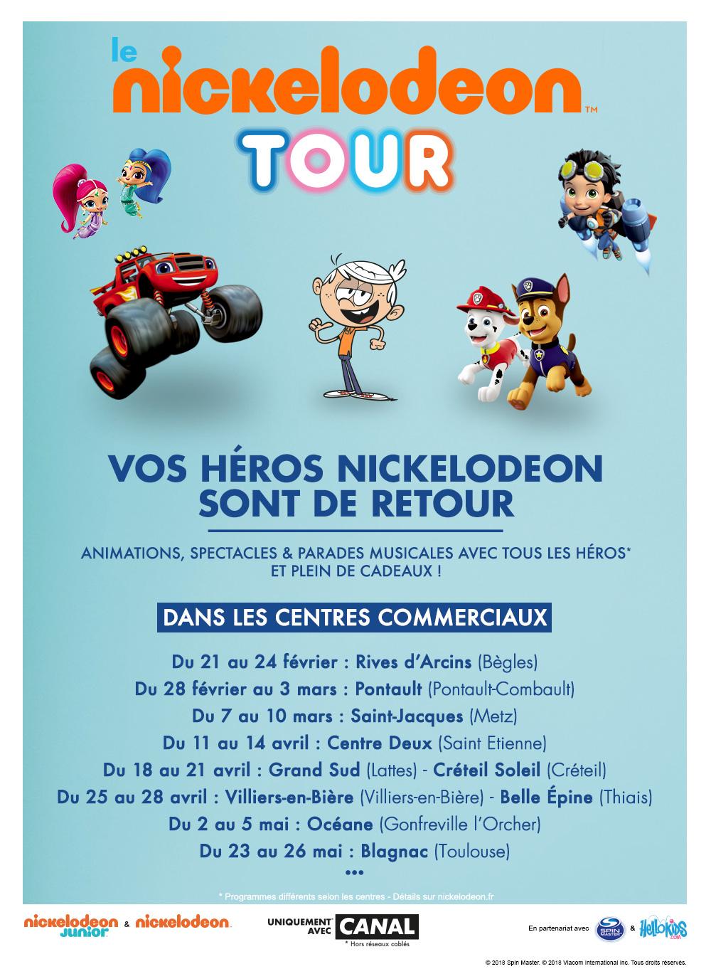 Le NICKELODEON TOUR dans ton centre commercial !