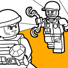 Coloriage : Poursuite de police Lego