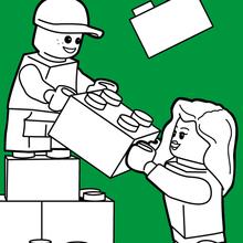 Coloriage : Bâtiment en Lego
