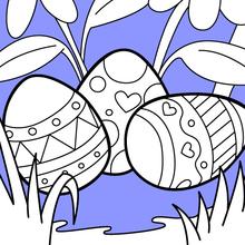 Coloriage : De jolis œufs de Pâques