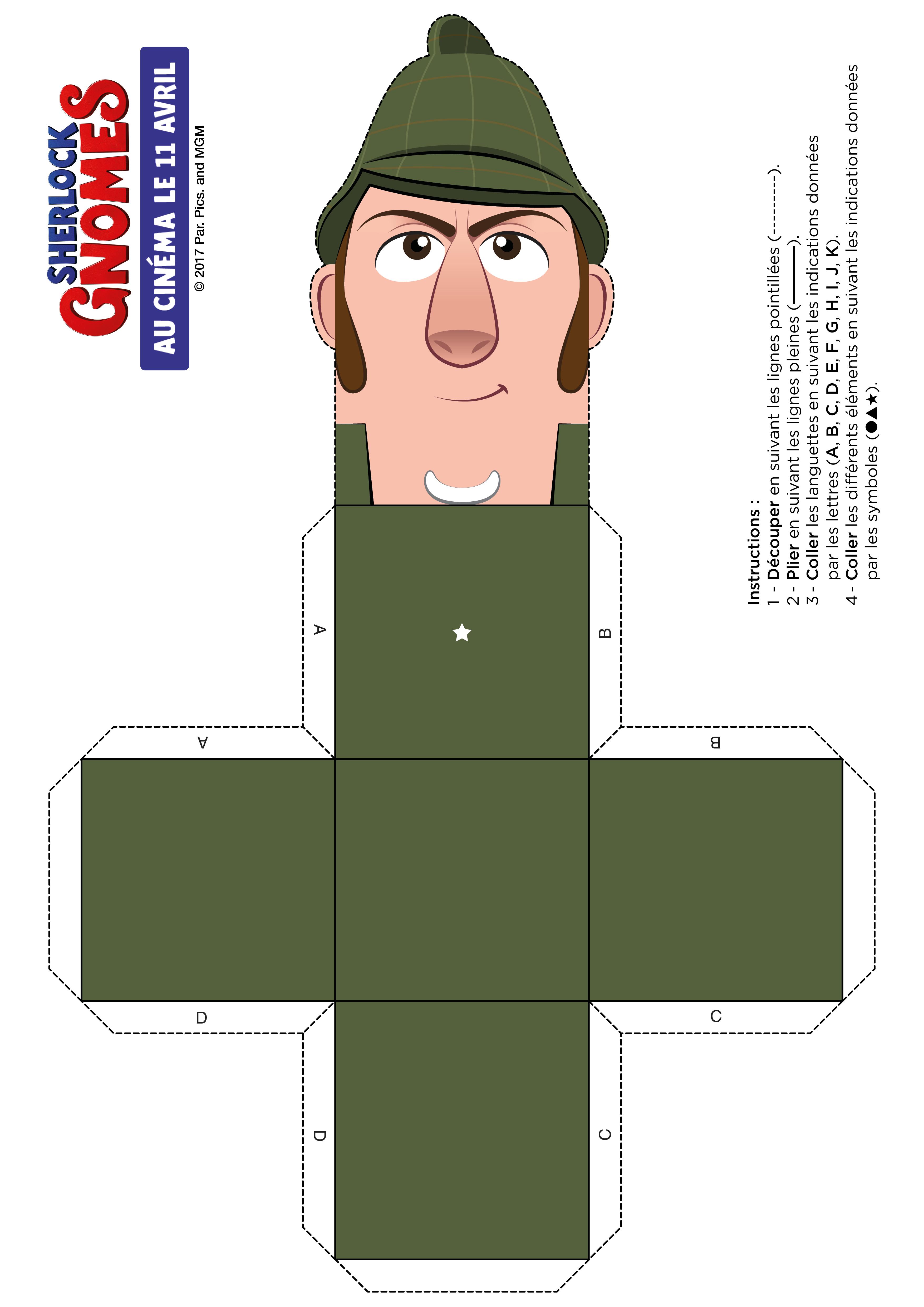 Sherlock Gnomes : papercraft SHERLOCK (1)