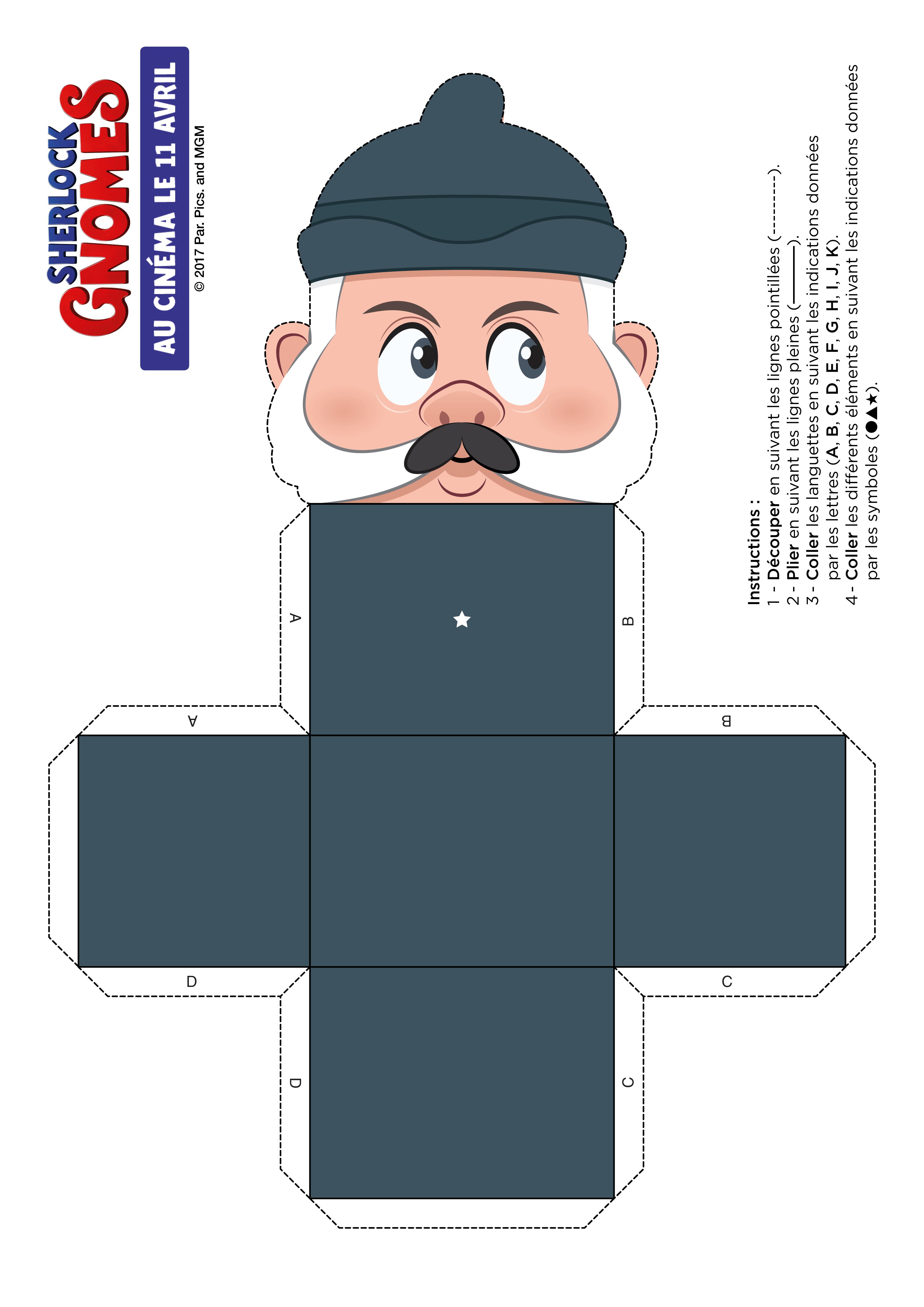 Sherlock Gnomes : papercraft WATSON (1)