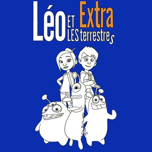 coloriage Léo et les extraterrestres