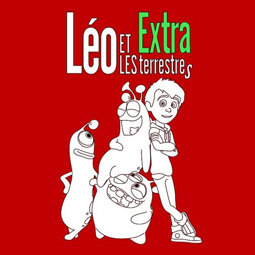 Coloriage Leo et les extra-terrestres