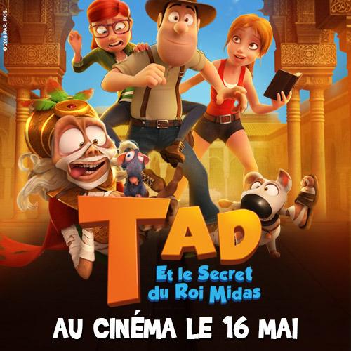Des places de cinéma à gagner pour TAD ET LE SECRET DU ROI MIDAS !