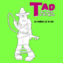 Coloriage : Tad l'explorateur