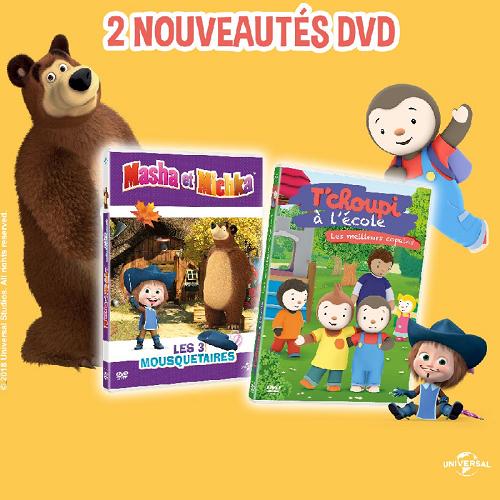 Des DVD de Masha & Michka et de T'Choupi à gagner !