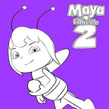 Coloriage : Violette, la rivale de Maya