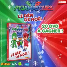 Gagne des DVD de PYJAMASQUES - Le défi de Noël !