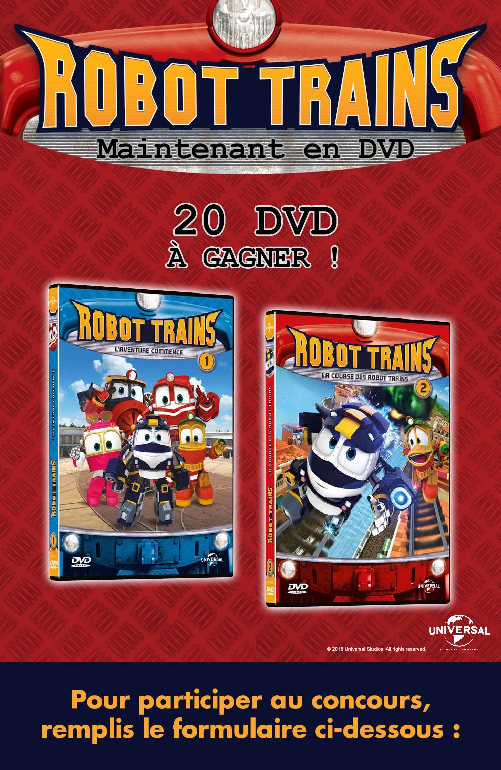 Gagne des DVD de Robot Trains!