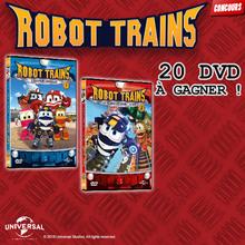 Gagne des DVD de ROBOT TRAINS !