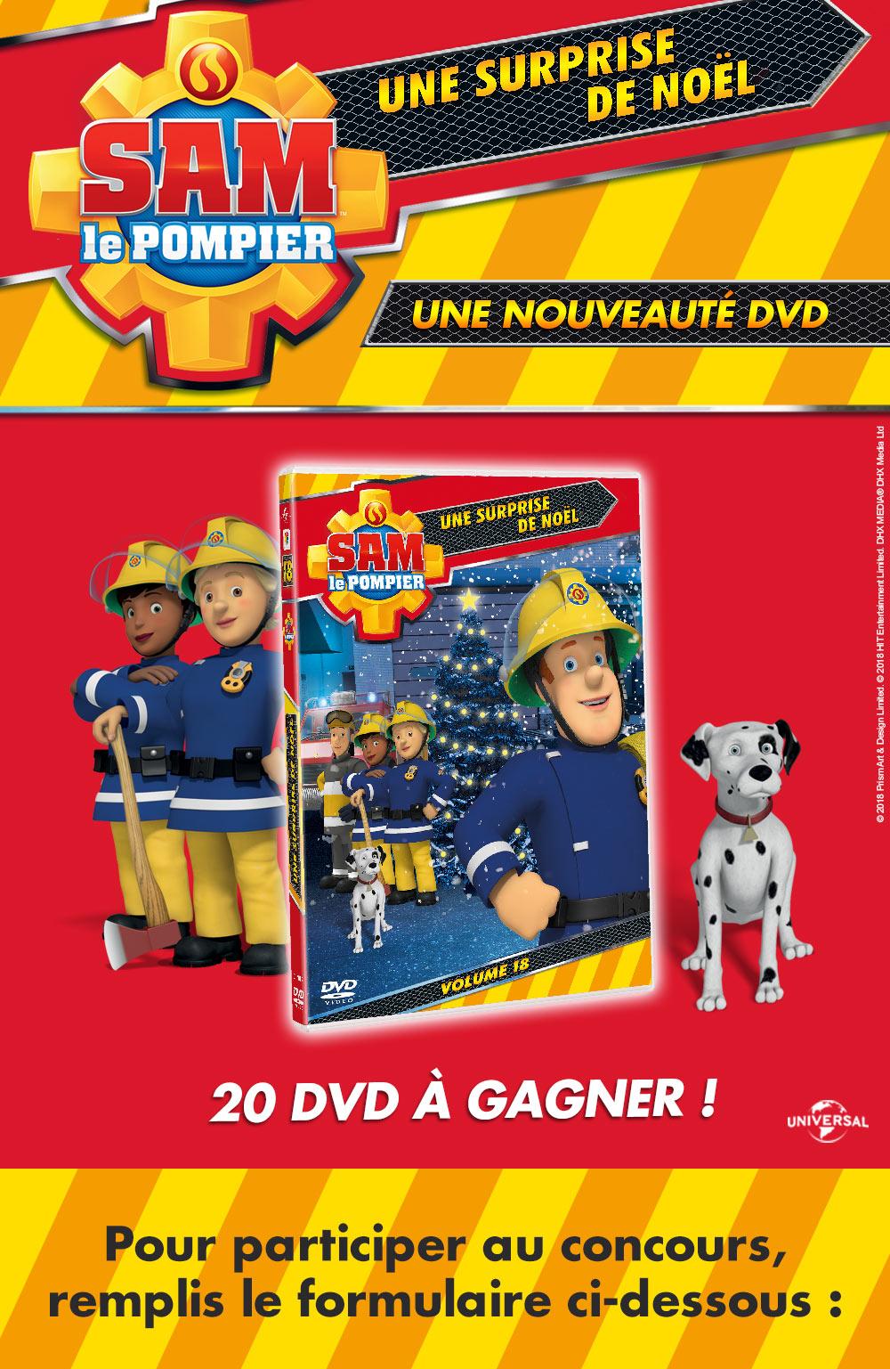 Gagne des DVD de Sam le Pompier!
