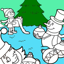 Coloriage : Sapin de Noël