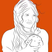 Coloriage : Mia et son lionceau