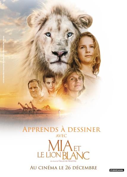 Dessiner le lion de MIA ET LE LION BLANC