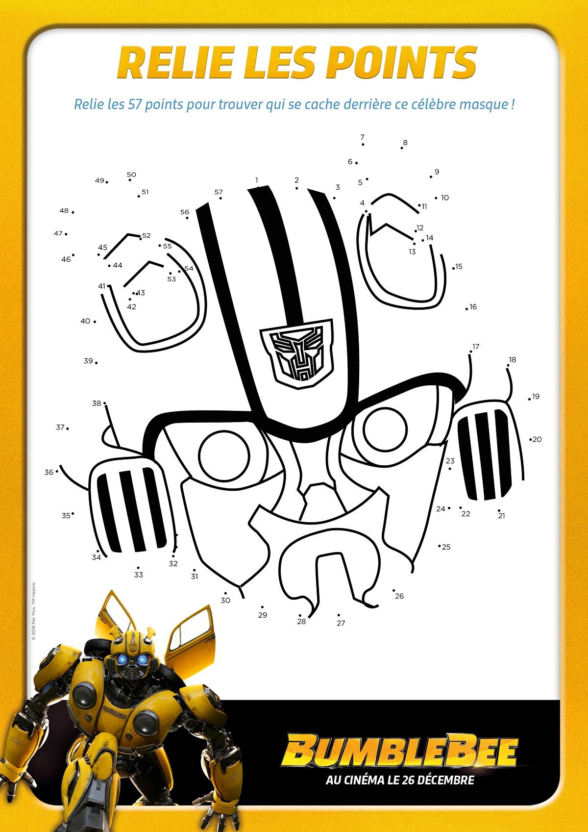 Jeu de points à relier Bumblebee
