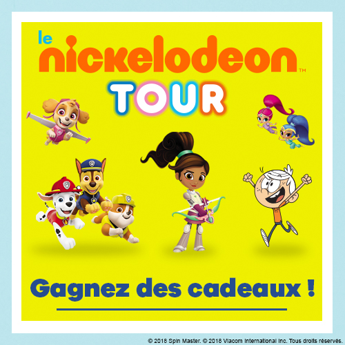 Gagne des goodies Nickelodeon et Nickelodeon Junior !