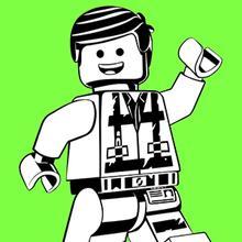 Coloriage de Emmet - La Grande Aventure Lego 2