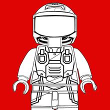 Coloriage de Rexdanger - La Grande Aventure Lego 2