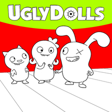 Coloriage : Ugly Dolls 4