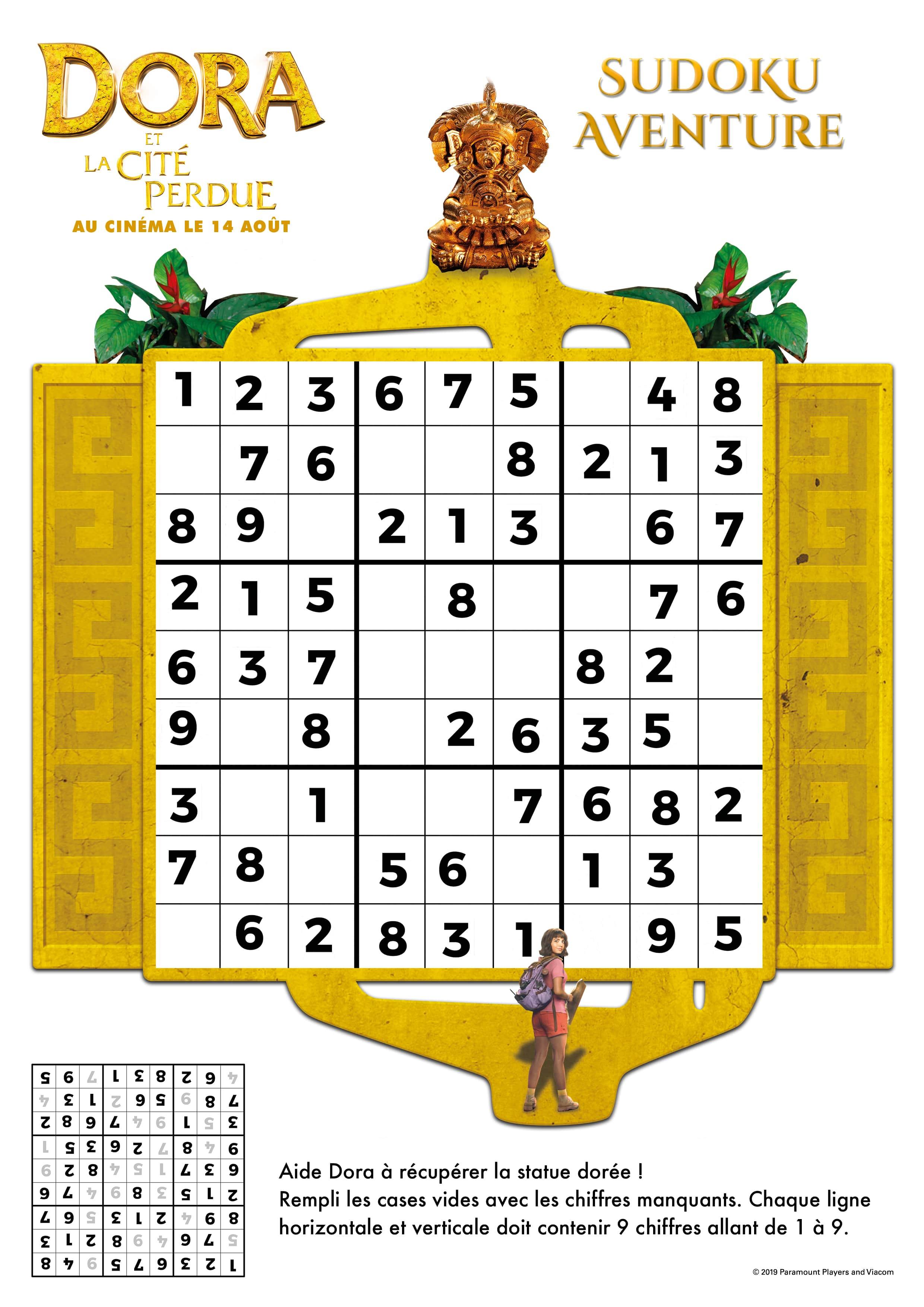 Code secret Dora et la cité perdue n°1