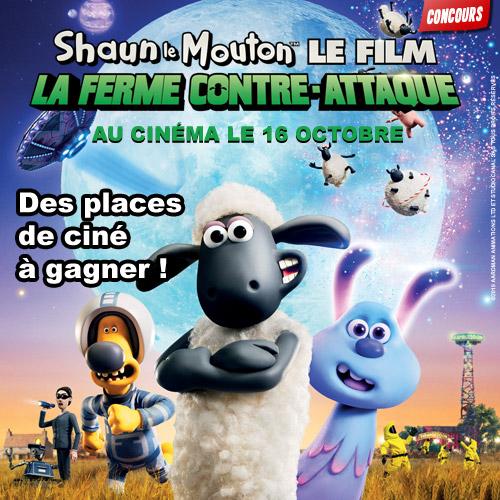 Concours Shaun le mouton