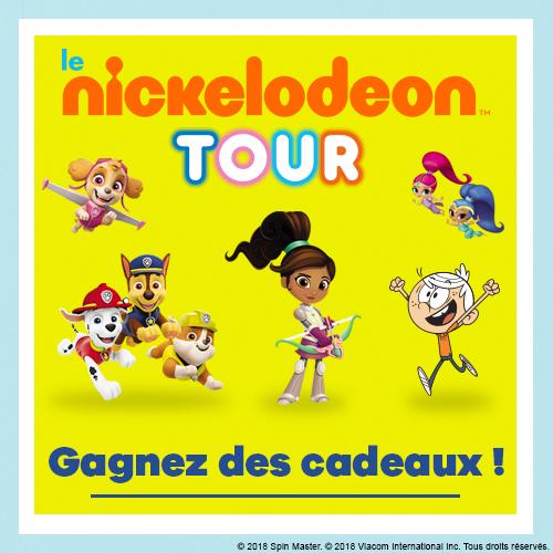 Gagne des goodies Nickelodeon Junior et Nickelodeon !