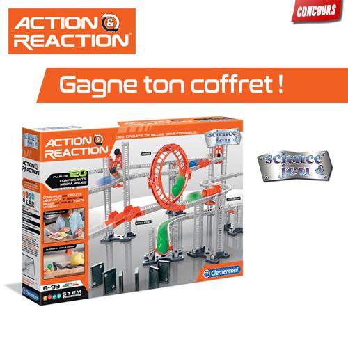 Gagne des boites de jeu Action & Reaction !
