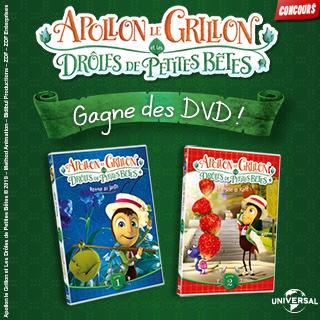 Concours DVD Apollon le grillon