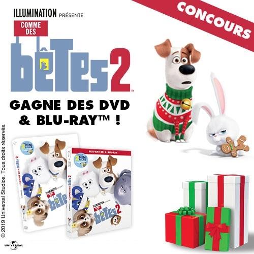 Gagne des DVD et Blu-Ray de Comme des Bêtes 2 !
